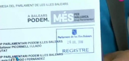 Podem Mas Balear inmatriculaciones 2016