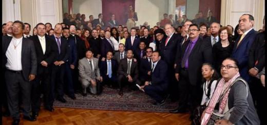 lideres religiosos con presidente Colombia 2016