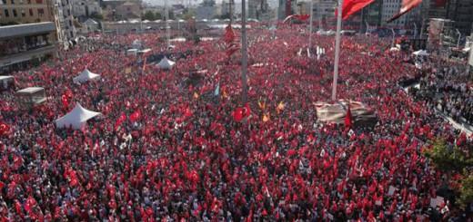 manifestacion Turquia por democracia y estado laico 2016