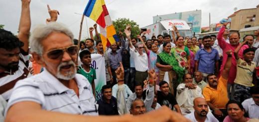 protesta ataque intocables India 2016