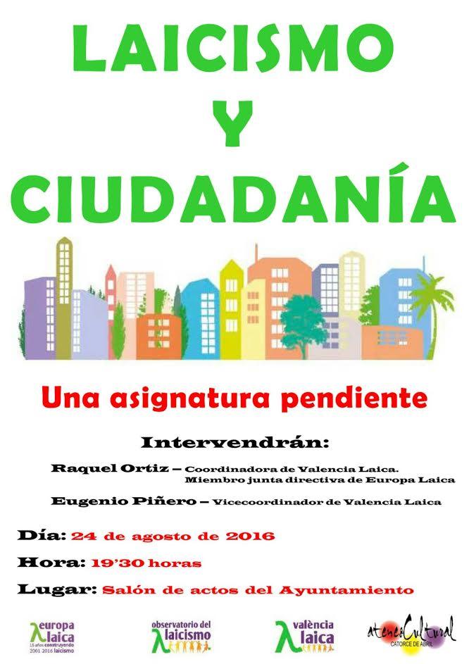 acto Valencia Laica en Siete Aguas 2016