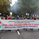 manifestacion Madrid Europa Laica reclama escuela laica religion fuera escuela