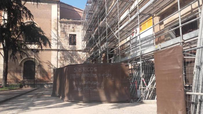 protesta subvenciones restaurar iglesias Alcala 2016 a