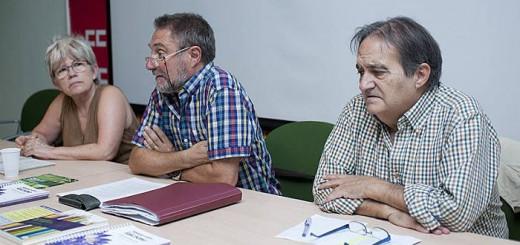De izquierda a derecha, Raquel Ortiz, Ximo Estal y Francisco Delgado