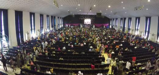 Interior de la iglesia Dunamis en Abuya, Nigeria. ALFREDO TORRESCALLES