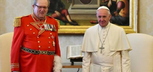 Bergoglio y el gran maestre de la Orden de Malta 2017