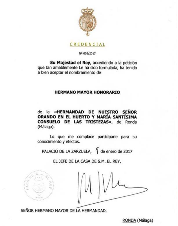 Rey cofradia Ronda 2017