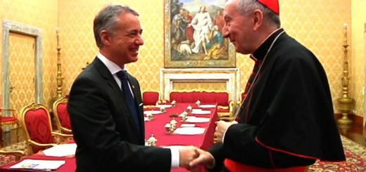 Urkullu con Parolin en el Vaticano 2017