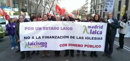 Madrid Laica marcha Dignidad 2017