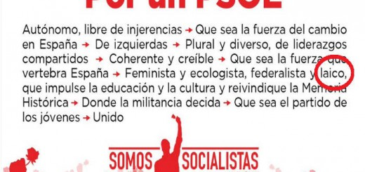 Pedro Sanchez laico nuevo PSOE 2017