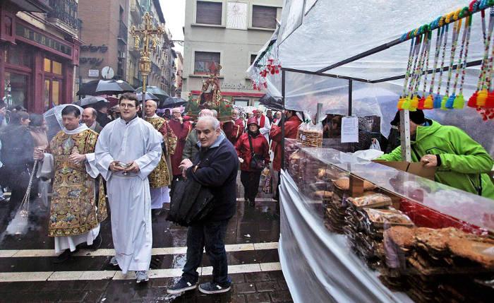 San Blas procesion Pamplona 2017