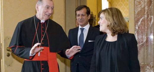 Soraya y Parlin secretario Vaticano