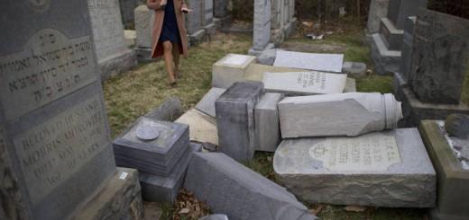 cementerio judio profanado 2017 USA