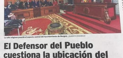 Crucifijo ayuntamiento Burgos 2017