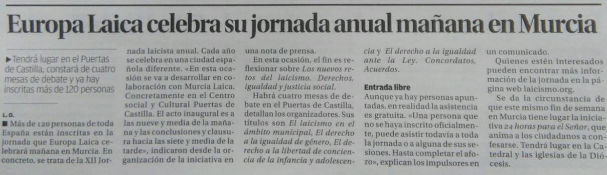 Jornada Murcia presna