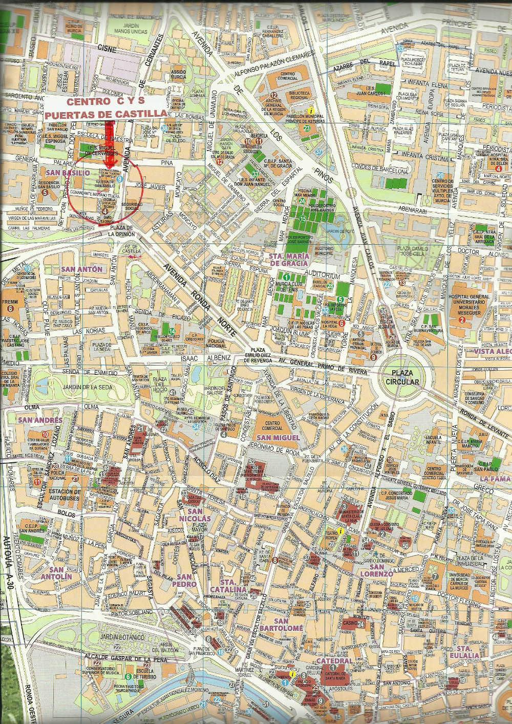 Plano Murcia