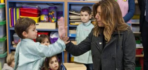 Susana Diaz en la escuela