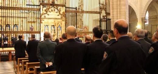 autoridades y policia misa san Patricio Murcia 2017