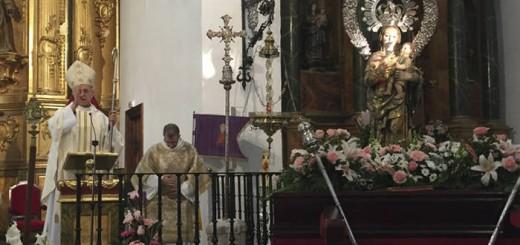 cardenal Blazquez y la virgen maria
