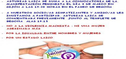 cartel 8M Asturias Laica 2017
