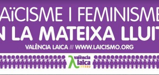 pancarta valencia laica 8M