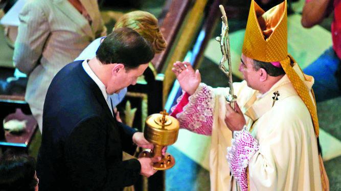 presidente de Panama Juan Varela y arzobispo metropolitano 2017
