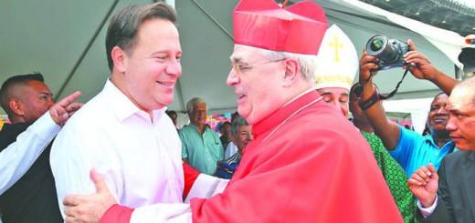 presidente de Panama Juan Varela y nuevo cardenal 2017