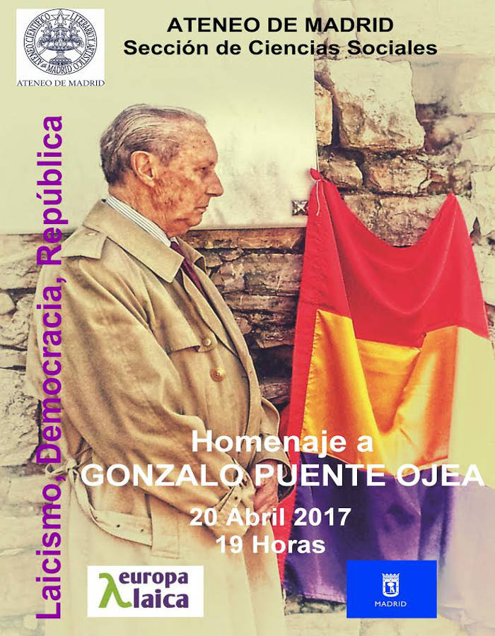 Cartel homenaje Gonzalo Puente Ojea 2017