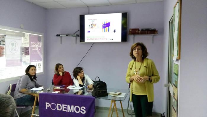 Charla de Sevilla Laica en circulo Podemos
