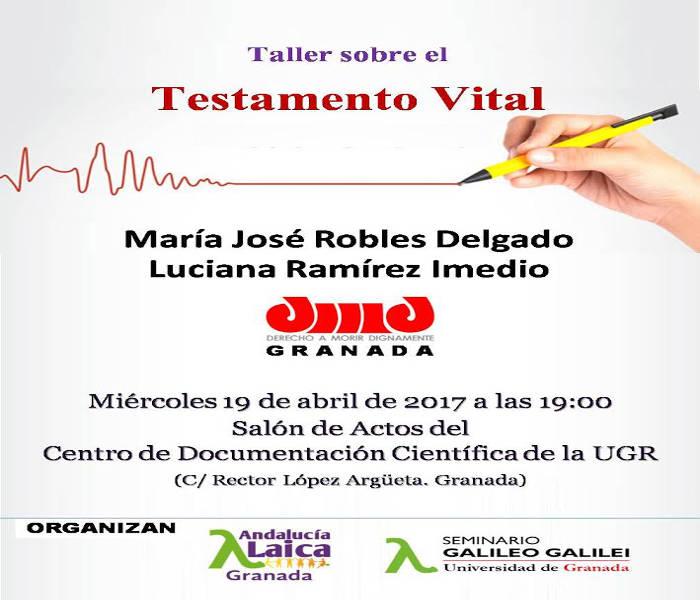 Charla testamento Vitasl Granada 2017