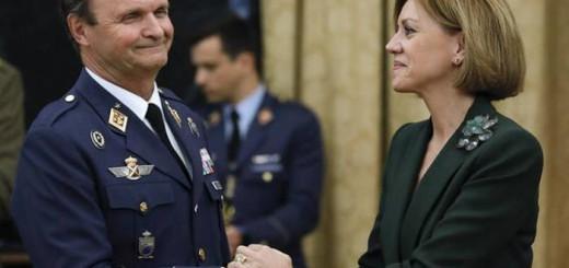 Cospedal y el general Javier Salto 2017