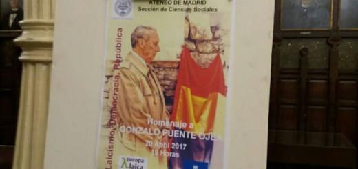 Homenaje a Gonzalo Puente Ojea Madrid 2017 a