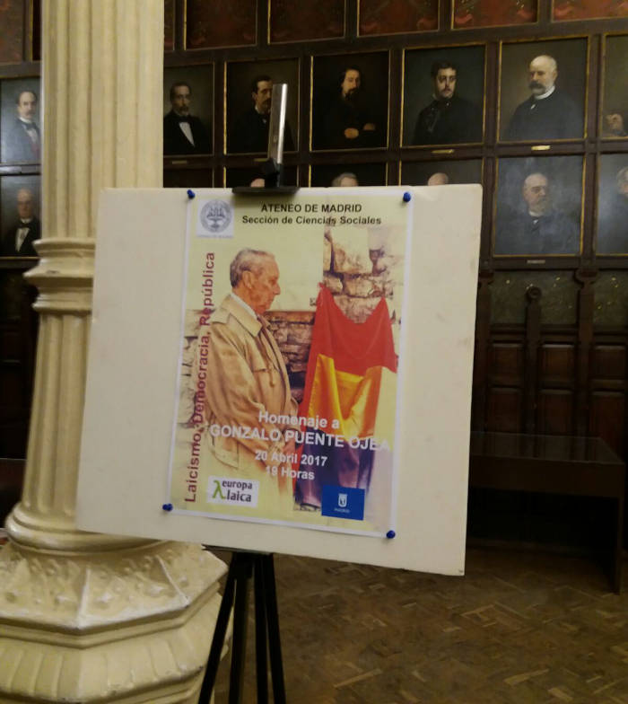 Homenaje a Gonzalo Puete Ojea Madrid 2017 a