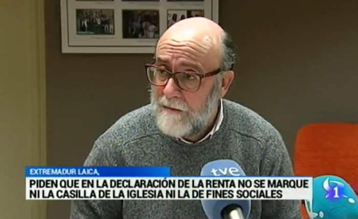 -Javier Escudero, Presidente de Extremadura Laica, representante laicista en contra de la casilla de la Iglesia católica… y la de fines sociales.
