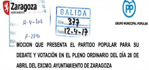 mocion PP Zaragoza 2017