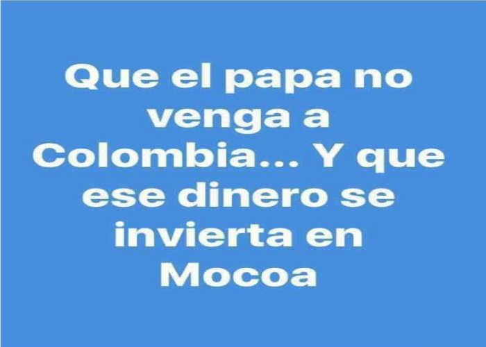 no visita papa Colombia 2017