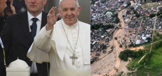 papa-francisco-y-mocoa inundadda 2017 Colombia