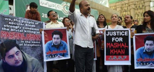 protesta asesinaato estudiante acusado blasfemia en Pakistan 2017