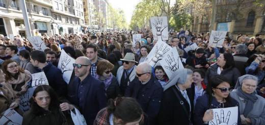 protesta concertada Zaragoza 2017