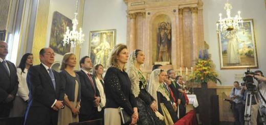 La alcaldesa de Castellón, Amparo Marco, en la misa de celebración de las fiestas de la Virgen del Lledó.