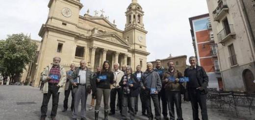 Miembros de la Plataforma de Defensa del Patrimonio Navarro 2017