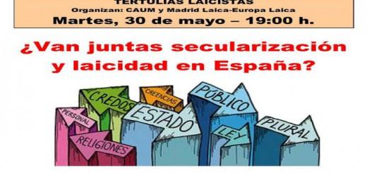 Tertulia Madrid Laica 2017 mayo