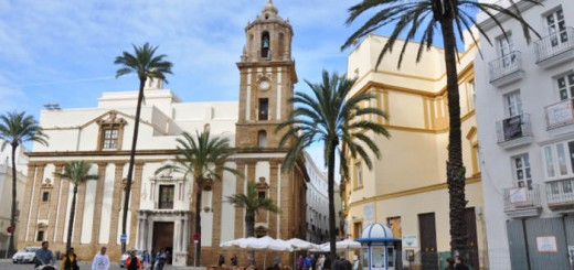 Plaza en el centro histórico de Cádiz
