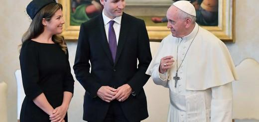 justin-trudeau Canada y Bergoglio 2017