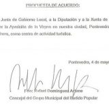 propuesta PP Pontevedra aparicion virgen