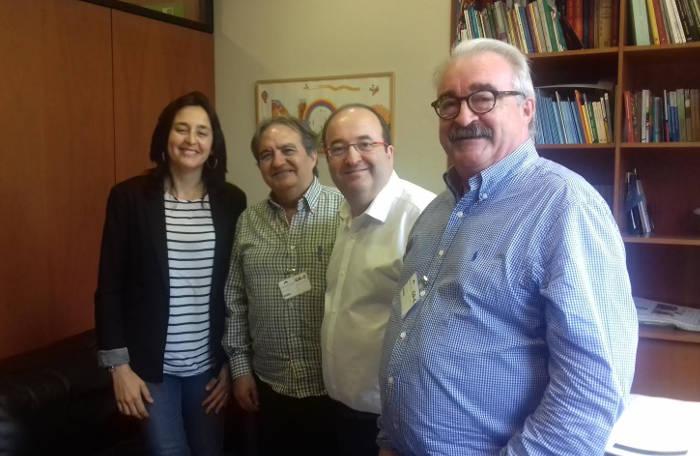 reunion Europa Laica con Iceta PSC en el Parlament Catalunya 2017