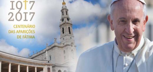 Cartel visita Bergoglio Fatima 2017