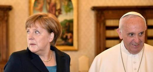 Bergoglio y Merkel 2017