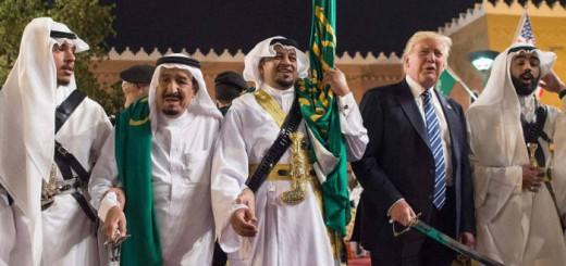 Trump y el rey Salman de Arabia 2017