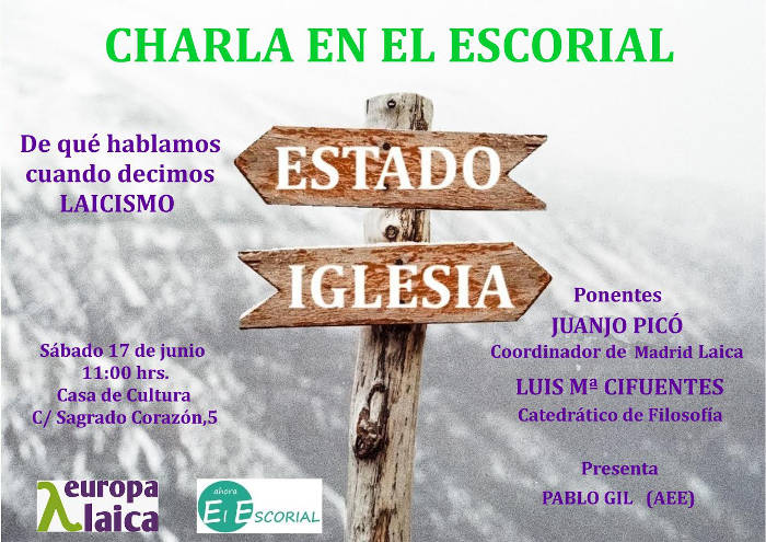 caartel charla El Escorial 2017